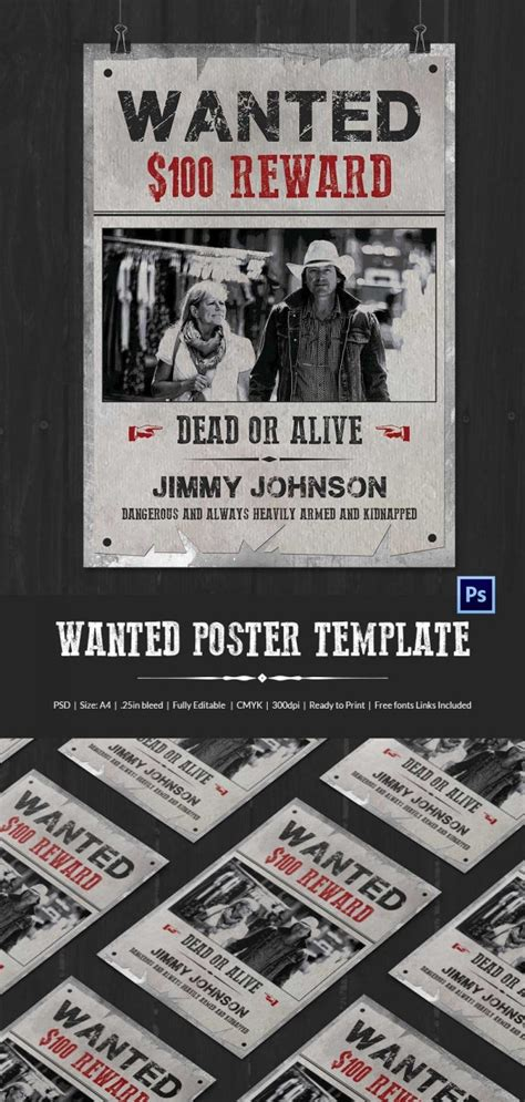 Wanted Poster Template - 34+ Free Printable Word, PSD